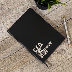 CEO Chief Entertainment Officer Notebook