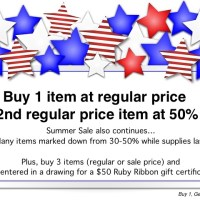Buy 1, Get 1 @ 50% Off - Sale Starts Today