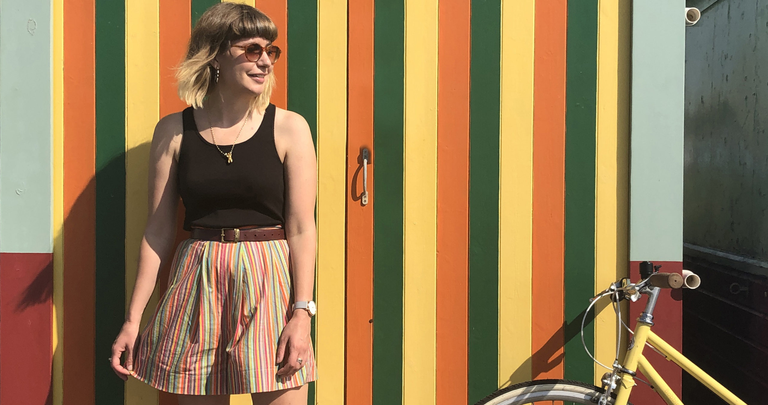 Sewing Comfy Striped Shorts