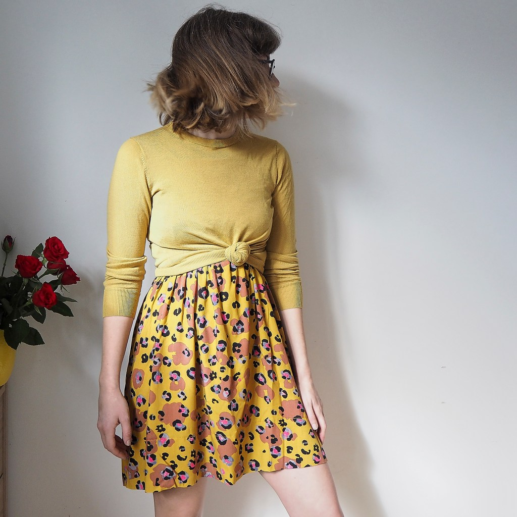 Styling a homemade dress for winter