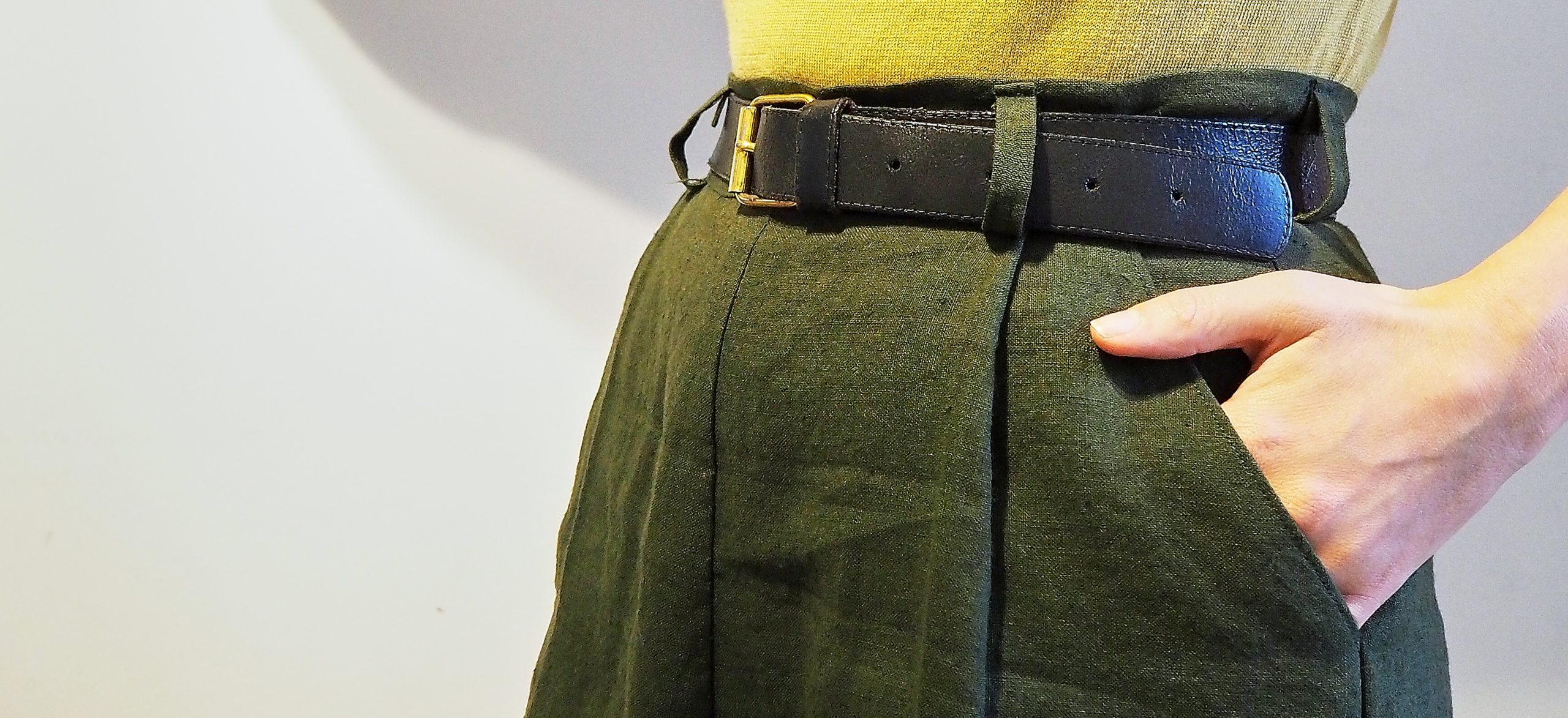 Sewing with Hemp – A self drafted Skirt