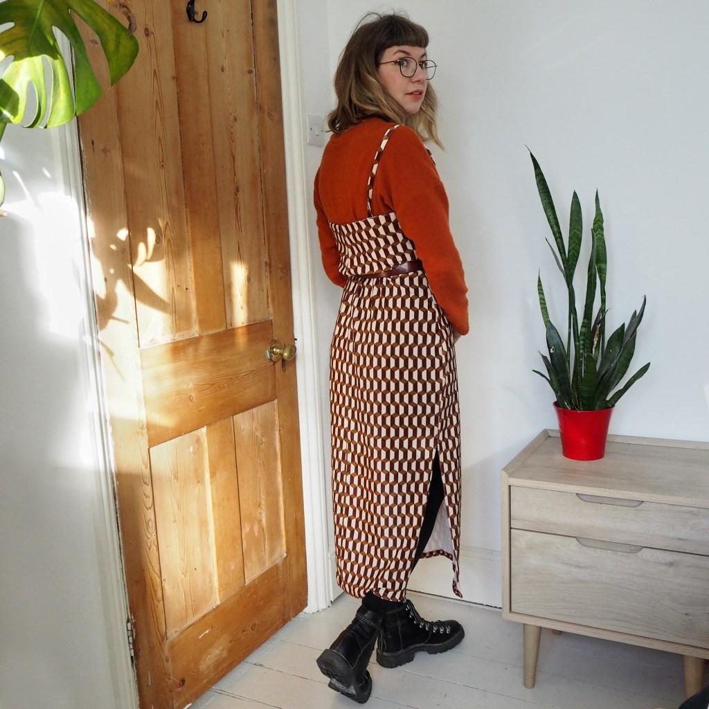 Ruby rose in tammy handmade velvet dress