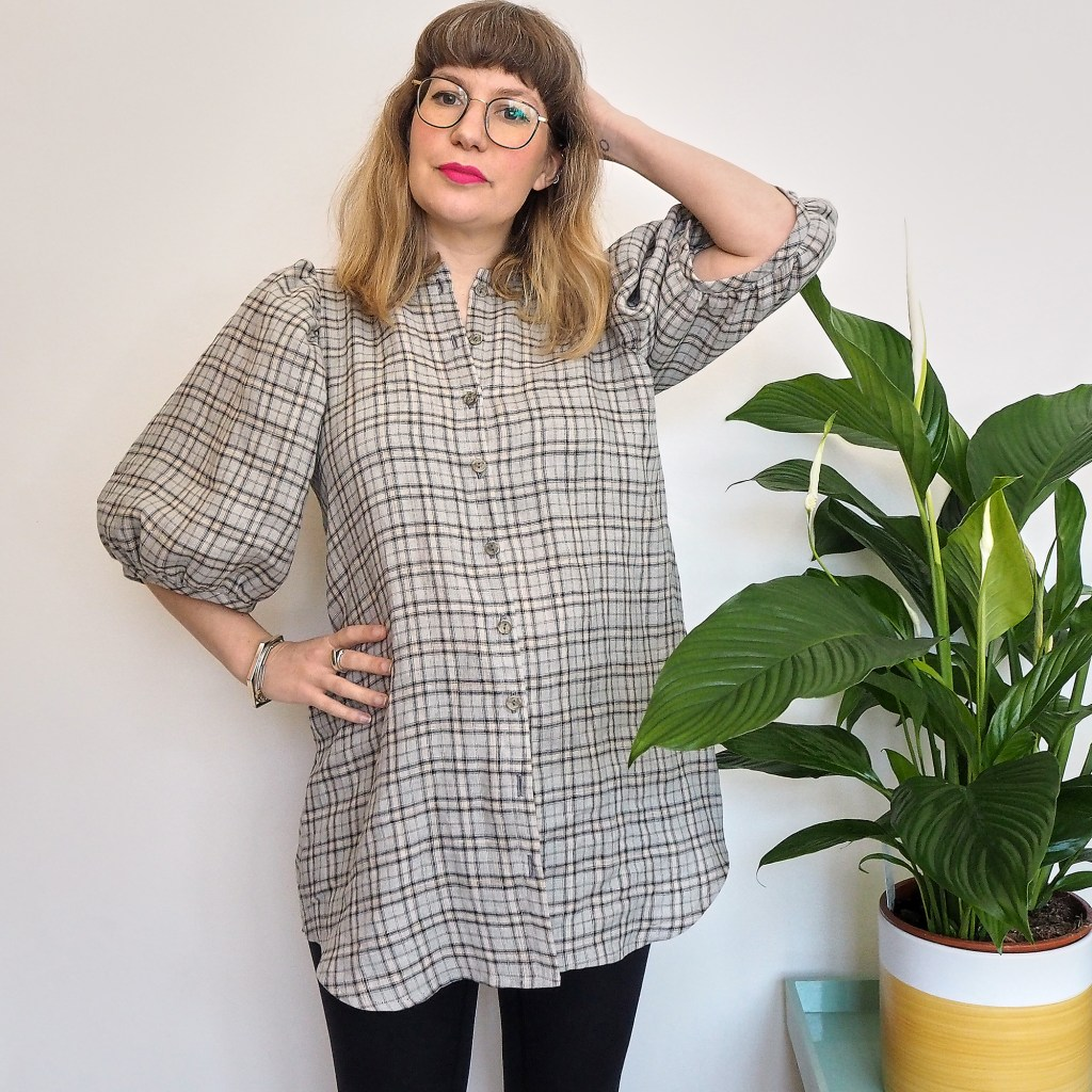 Checked anna allen anthea blouse