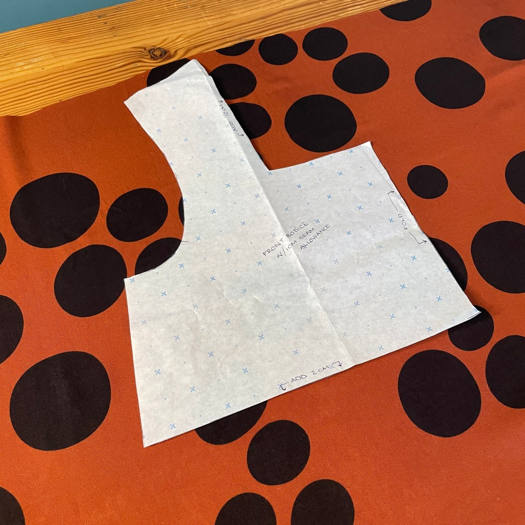 bodice pattern piece