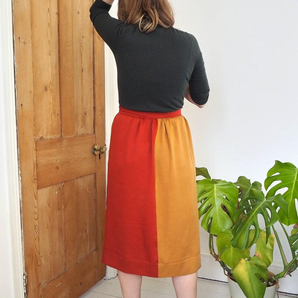 Back view of panels in Leda  skirt