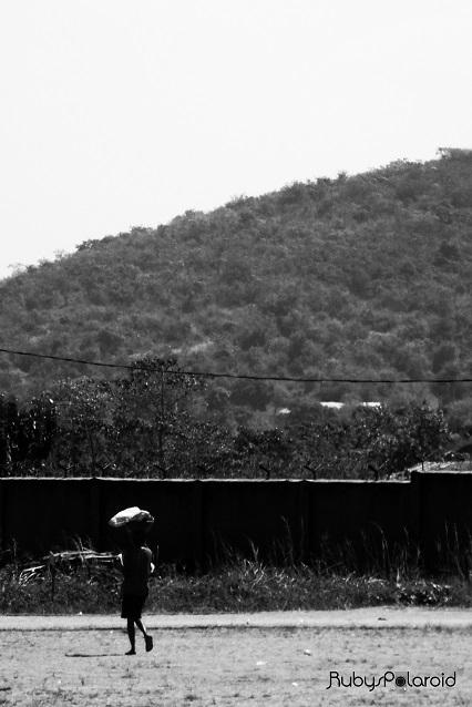 Man and Mountain monochrome by rubys polaroid