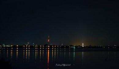 Lagos lagoon at night 2 by rubys polaroid