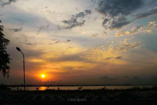 Sunset on the lagoon by rubys polaroid