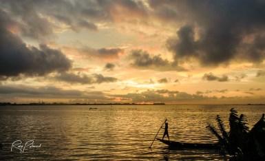 Lagos lagoon sunset by rubys polaroid