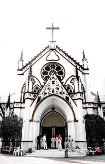 Grand Entry of Holy Cross Cathedral Lagos by rubys Polaroid