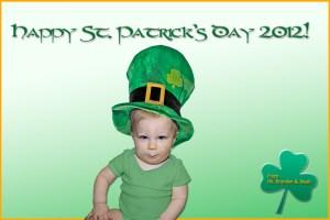 Noah as a leprechaun for St. Patrick's Day