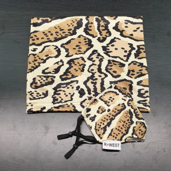 Adult leopard mask and neck gaiter combo