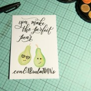 You make the perfect pear | www.rubyyee.com