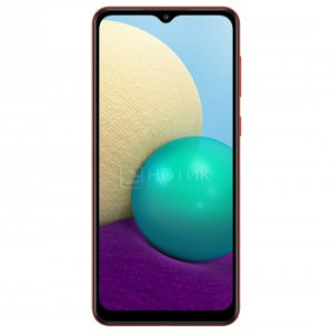 """Смартфон Samsung Galaxy A02 SM-A022G Red (Android 10.0/MT6739WW 1500MHz/6.50"""" 1600x720/2048Mb/32Gb/4G LTE ) [SM-A022GZRBSER]"""