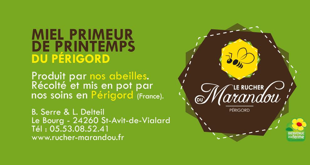 Miel primeur de printemps rucher de marandou Dordogne Périgord
