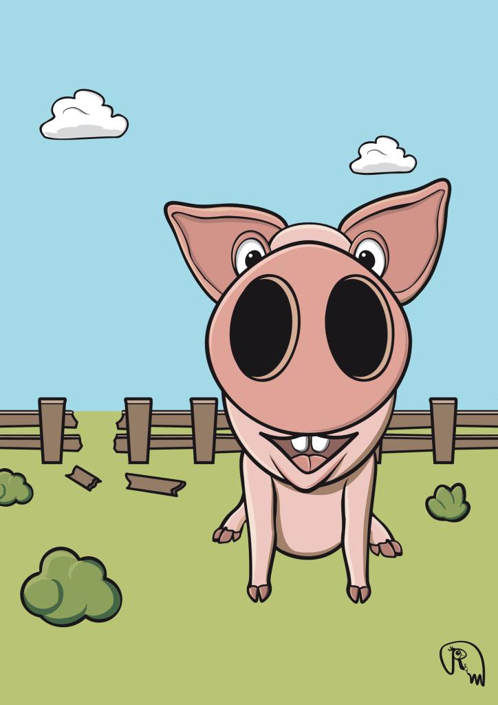 Schwein Pig Vektorgraphik
