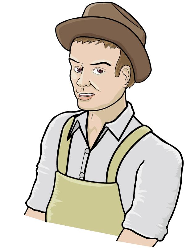 Detailausschnitt - Landwirt