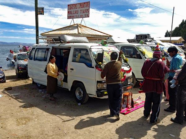 Autosegnung Copacabana Bolivien