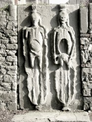 Fascinating and uncommon effigy tomb in a Protestant graveyard in Drogheda Ireland