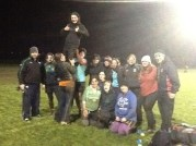 Doing a little training with the womens rugby team in Navan Ireland