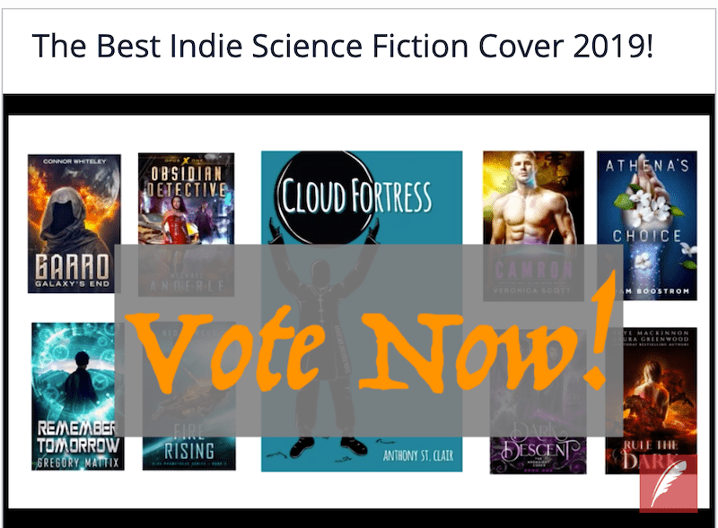 Vote CLOUD FORTRESS Best Indie Science Fiction Cover 2019