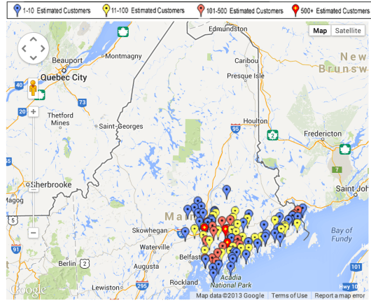 Bangor_Hydro_Electric_-_Outage_Map