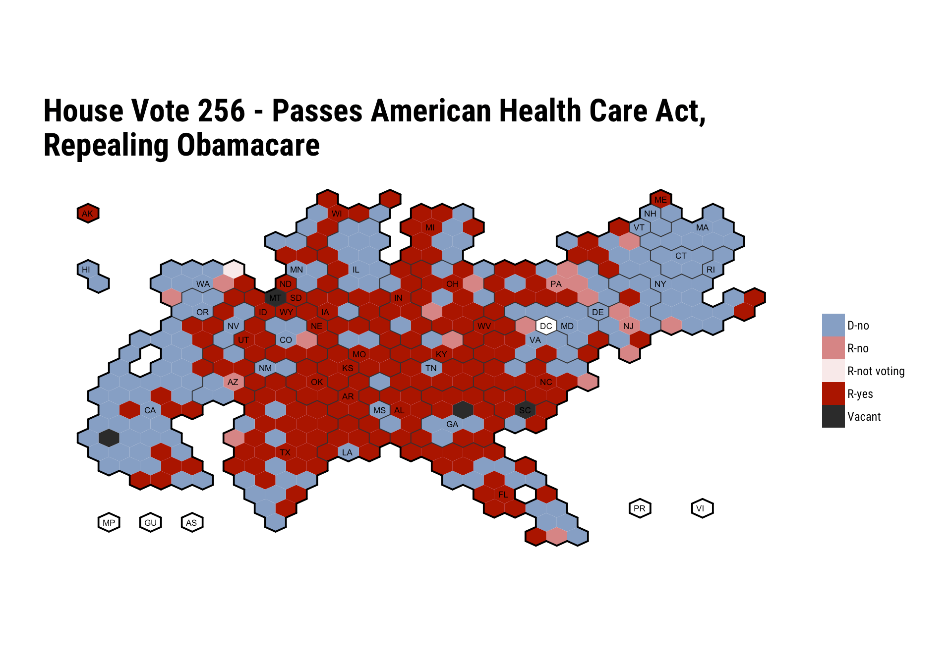 Plot the Vote: Making U.S. Senate & House Cartograms in R