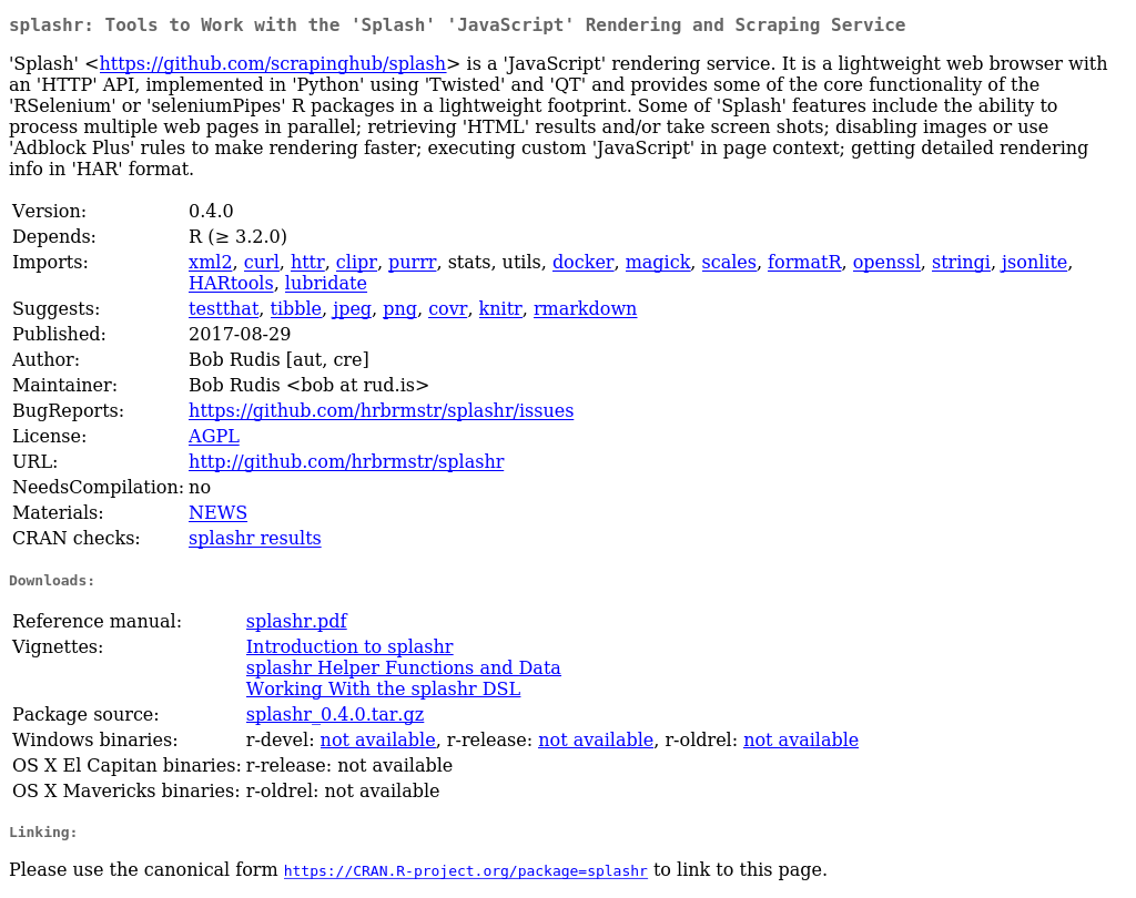 cran r project org R is a collaborative project with many contributors type 'contributors()' for more information and 'citation()' on how to cite r or r packages in publications.