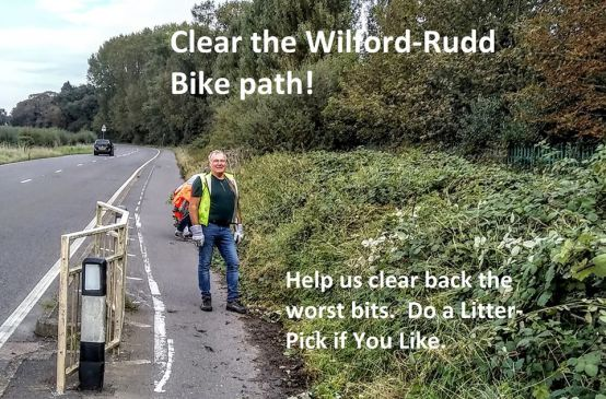 Clear the Ruddington to Wilford Cyclepath/Footpath @ Outside Ruddington Grange Golf Club entrance