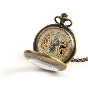 Zegarek kieszonkowy – Brązowy klasyk