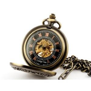 ELEGANCJA W DREWNIE I – zegarek kieszonkowy