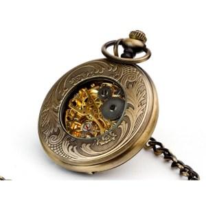 Piękno w brązie – zegarek kieszonkowy