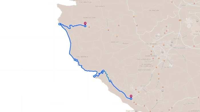 mapa trasy naszego trekkingu