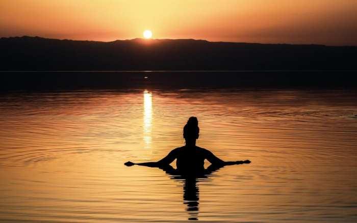 zachód słońca nad Morzem Martwym