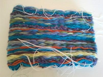 weaved wool piece folded in half