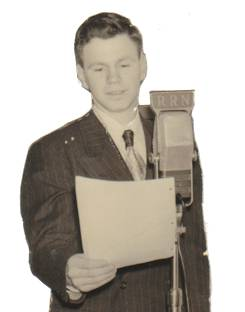 60 Years Ago: Rudy Paolangeli on the Rural Radio Network from Ithaca in 1953.  Courtesy rudyonduty.com