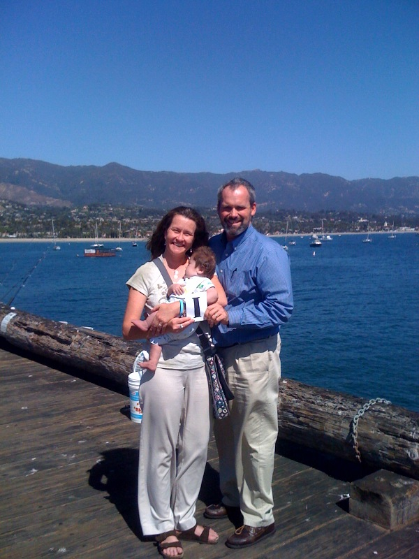 1:30pm...on his 1st birthday, Rudy takes his first trip out onto the pier.