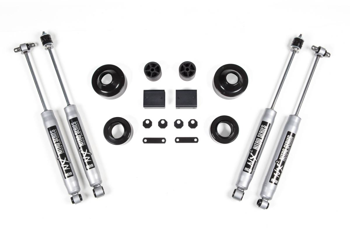 Bds 2 Coil Spacer Kit With Nx2 Shocks For 07 18 Jeep