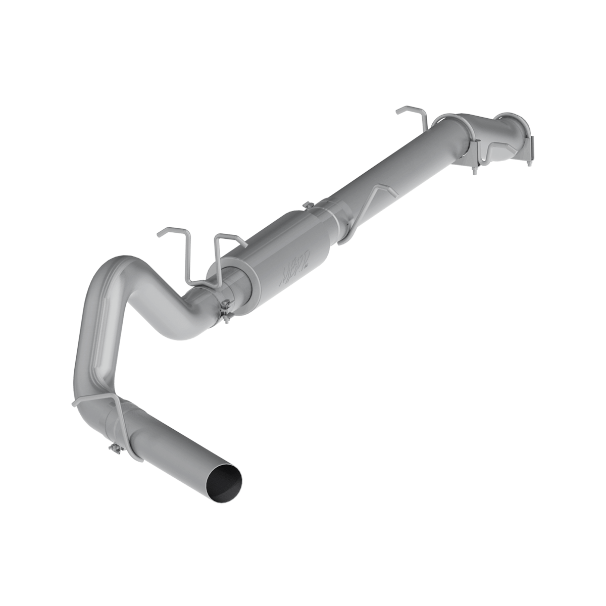 mbrp 4 inch cat back exhaust system single side stock cat for 03 07 ford f 250 350 6 0l extended cab crew cab s6208p