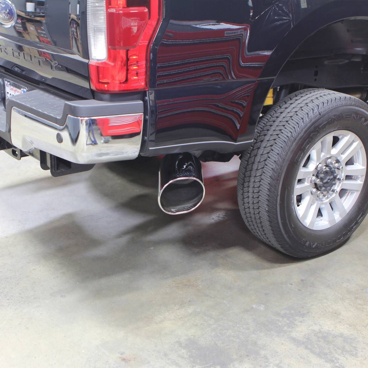 banks power monster exhaust system 5 inch single exit chrome tip 2017 present ford f250 f350 f450 6 7l