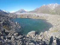 The beautiful glacier lake