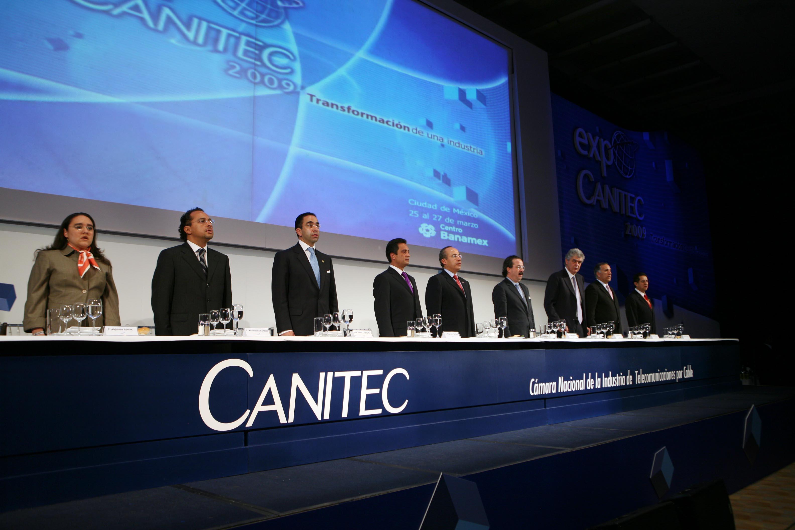 Inauguración de la Expo Convención Canitec. Foto: Ariel Gutiérrez (Sitio de la Presiencia de la República).
