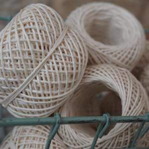Ficelle de coton blanche