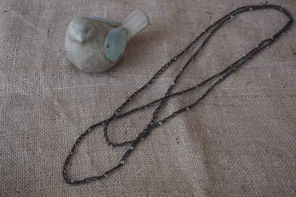 Collier crocheté coton