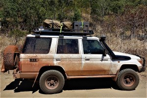 landcruiser after four weeks in cape york