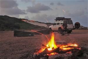 campfire on captain billys landing