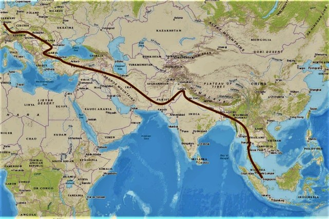 planned route from singapore and southeast asia