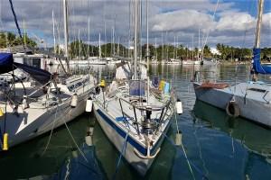 Sailing boat harbor Fiji