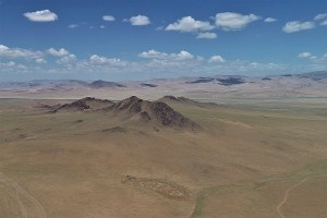 Aerial view in Mongolia