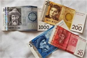 Kirgisische Geldscheine